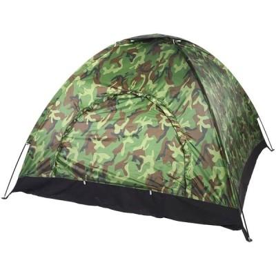 Keenso アウトドアテント ファミリーキャンプ 40+ UV保護テント 防水カモフラージュテント 収納バッグ付き 34人用