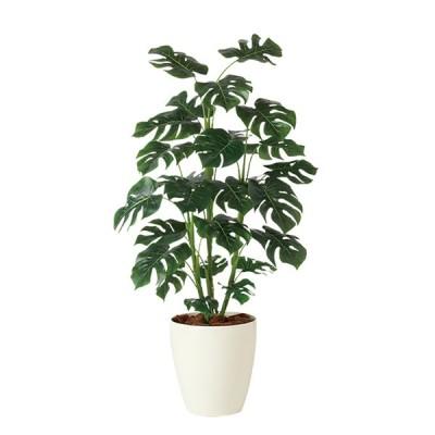 人工観葉植物 フェイクグリーン 観葉植物 造花 光触媒 大型 モンステラ R 110cm 鉢植 インテリア CT触媒