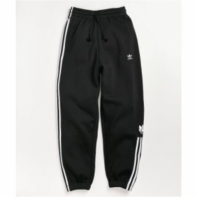 アディダス ADIDAS レディース スウェット・ジャージ ボトムス・パンツ adicolor 3d trefoil black sweatpants Black