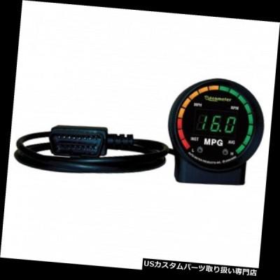 """USタコメーター オートメーター9105ブラックユニバーサルEcometer 1.0-99.9 MPG 2-1 / 16 """"ゲージ  Auto Met"""