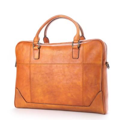 ヴィータフェリーチェ VitaFelice ビジネスバッグ 本革 イタリアンレザー メンズ 2way  斜め掛け ショルダーバッグ 出張バッグ 旅行バッグ (CAMEL)