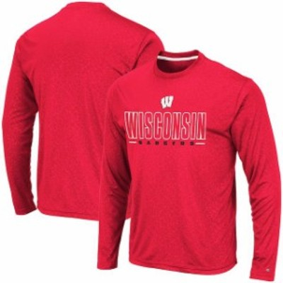 Colosseum コロセウム スポーツ用品  Colosseum Wisconsin Badgers Red Luge Performance Long Sleeve T-Shirt