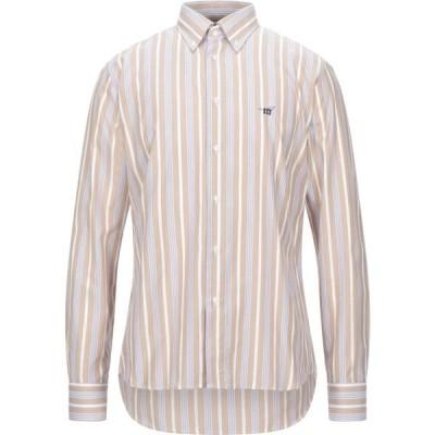 ヘンリーコットンズ HENRY COTTON'S メンズ シャツ トップス Striped Shirt Beige