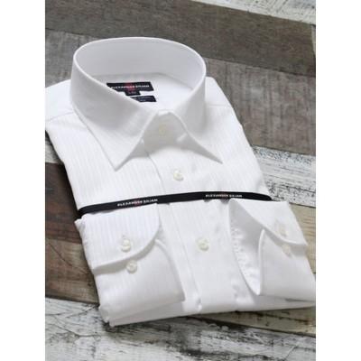 形態安定80双レギュラーフィットセミワイドカラー長袖ビジネスドレスシャツ/ワイシャツ