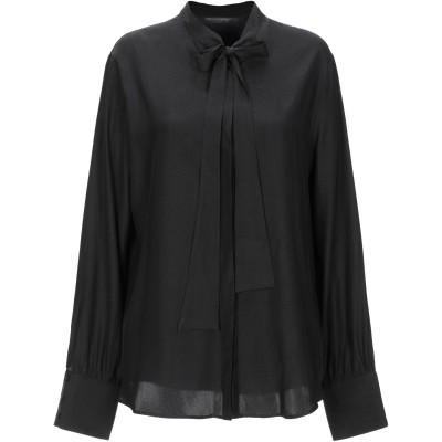 メッサジェリエ MESSAGERIE シャツ ブラック 44 レーヨン 90% / ナイロン 10% シャツ