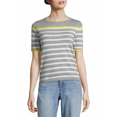 オータムカシミア レディース トップス シャツ Breton Stripe Sweatshirt Top