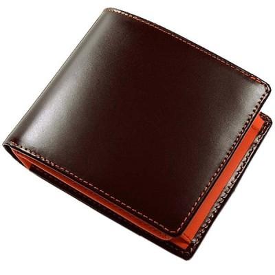 マトゥーリ Maturi エグゼクティブ コードバン 二つ折り財布 短財布 BR/OR ブラウン オレンジ MR-009 BR/OR MR-009-BR-OR