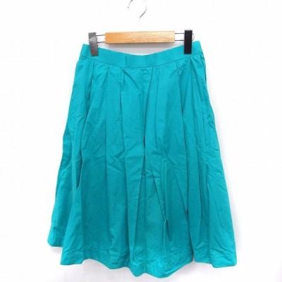 【中古】ガリャルダガランテ GALLARDAGALANTE スカート ギャザー ロング 無地 シンプル 綿 1 グリーン 緑 /FT4 レディース 【ベクトル 古着】