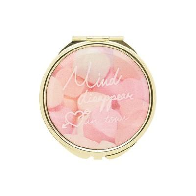 手鏡 ミラー 拡大鏡 キラキラ プレゼント コンパクトミラー メッセージロゴ GMR0056-PK ピンク 雑貨 おしゃれ かわいい