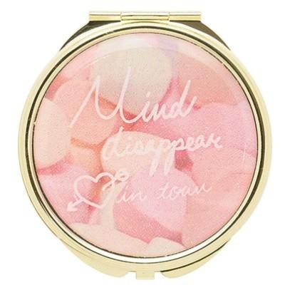 手鏡 コンパクトミラー メッセージロゴ GMR0056-PK ピンク 雑貨 かわいい 人気 おしゃれ