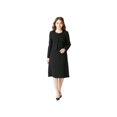 (マーガレット)marguerite m455 喪服 ブラックフォーマル レディース アンサンブル 礼服 (レギュラー丈 15 号)