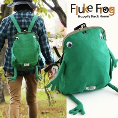 リュック バッグパック バッグ 鞄 カバン がま口 カエル スウェット A4サイズ 背面ファスナー 大容量 レディース メンズ キッズ 子供 親
