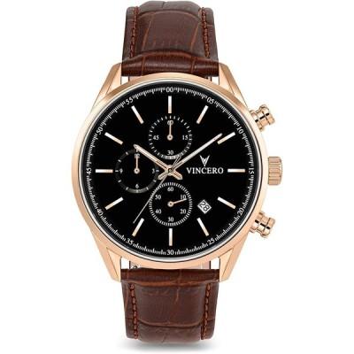 Vincero Men's Chrono S Luxury Watch 40mm Quartz Movement Rose Gold 並行輸入品