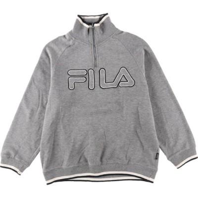 フィラ FILA ハーフジップスウェットシャツ トレーナー メンズM /eaa092929