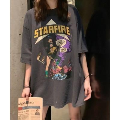 tシャツ Tシャツ 【ACT -fascination design-】オーバーサイズ カレッジプリントTシャツ