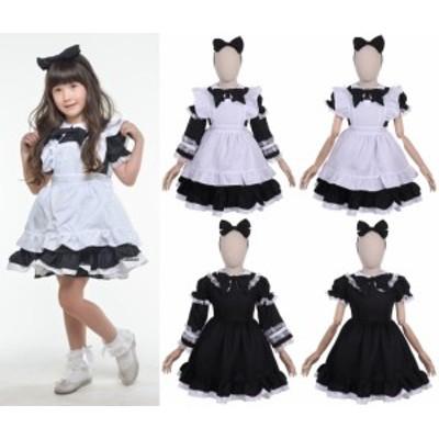 ハロウィン 衣装 コスチューム コスプレ 仮装 女の子 子ども 小学生 保育園 かわいい アリス ドレス かわいい 120cm 130cm 黒 ブラック