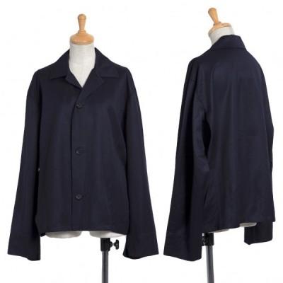 ワイズY's 3Bウールギャバジャケット 紺4 【レディース】