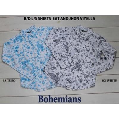BOHEMIANS ボヘミアンズ EAT AND JOHN VIYELLA B.D L/S SHIRTS 長袖シャツ UNISEX カラー SAX・WHITE