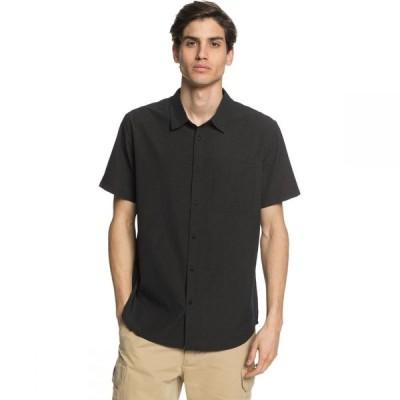 クイックシルバー Quiksilver Waterman メンズ 半袖シャツ トップス Tech Tides Shirt Black