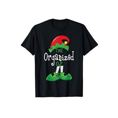 組織化されたエルフおかしいクリスマス家族マッチングギフトクリスマス Tシャツ