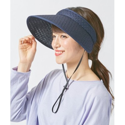 OVERRIDE / 【milsa】風とば~ぬ 洗えるクリップバイザー WOMEN 帽子 > サンバイザー