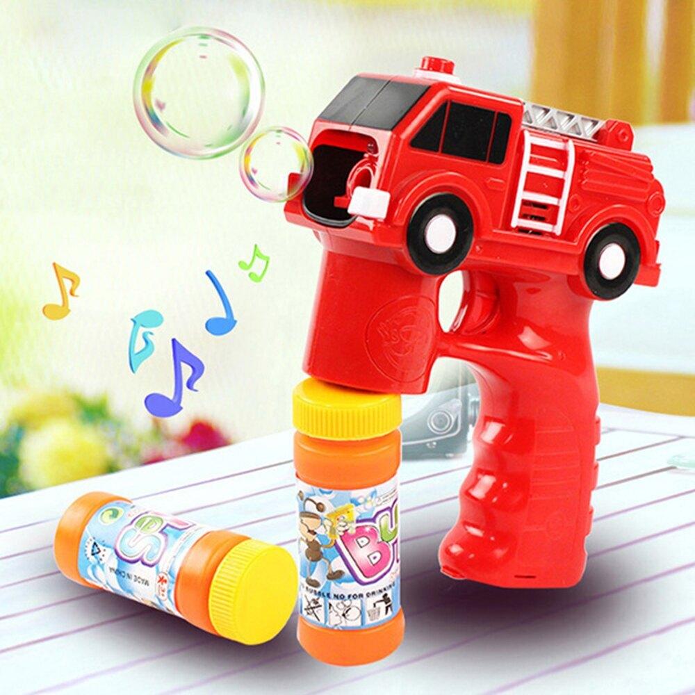 消防車造型連續式電動泡泡槍(有LED燈+音樂)【888便利購】