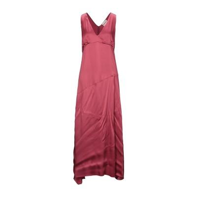 セミクチュール SEMICOUTURE ロングワンピース&ドレス ガーネット 38 アセテート 75% / シルク 25% ロングワンピース&ドレス