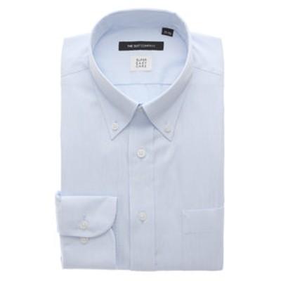 【3BLOCK SHIRT】ボタンダウンカラードレスシャツ ストライプ 〔EC・BASIC〕