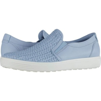 エコー ECCO レディース スリッポン・フラット シューズ・靴 Soft 7 Woven Slip-On II Dusty Blue Cow Leather