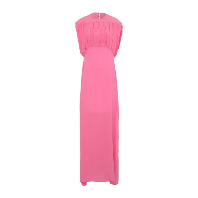 アイネア AINEA ロングワンピース&ドレス フューシャ 40 シルク 100% ロングワンピース&ドレス