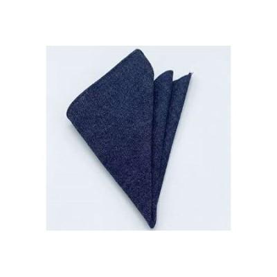 クラバットユキジ製 デニムポケットチーフ(インディゴ)【1084658】