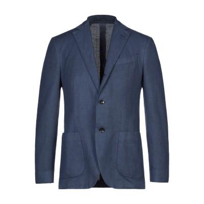 ラルディーニ LARDINI テーラードジャケット ダークブルー 48 コットン 58% / リネン 42% テーラードジャケット