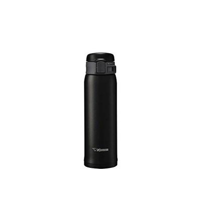 象印マホービン(ZOJIRUSHI) 水筒 ステンレス マグ ボトル 直飲み 軽量 保冷 保温 ワンタッチ オープン タイプ 480ml マット ブラック SM-SE48-BZ