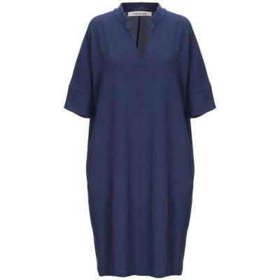 FOUDESIR ミニワンピース&ドレス ダークブルー S 96% ポリエステル 4% ポリウレタン ミニワンピース&ドレス