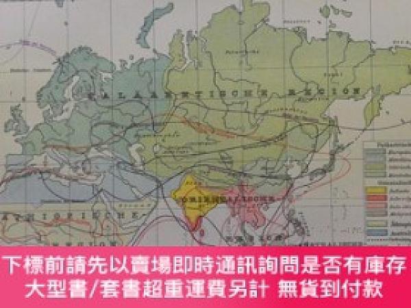 二手書博民逛書店1895年亞洲彩色地圖一張《亞洲動物分布verbreitung罕見der tiere in asien 》萊比錫