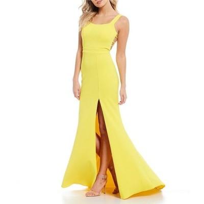 ビーダーリン レディース ワンピース トップス Sleeveless Square-Neck Bar-Back Slim Long Dress