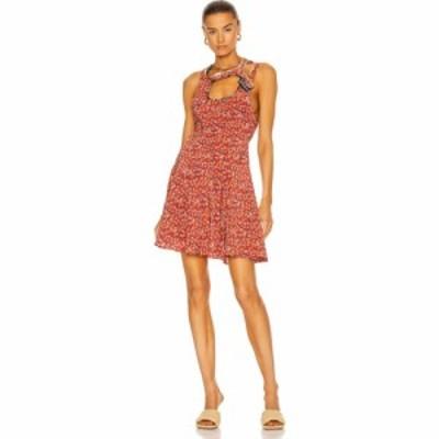 ワイプロジェクト Y/Project レディース ワンピース ミニ丈 ワンピース・ドレス Bias Y Collar Mini Dress Red Floral