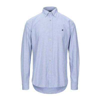ブルックスフィールド BROOKSFIELD シャツ ブルー 40 コットン 100% シャツ