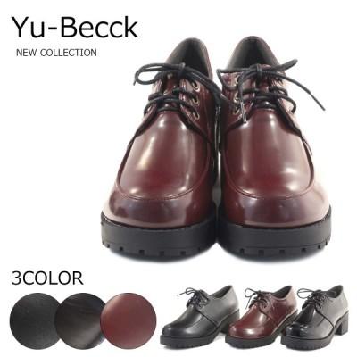 Yu-Becck ユービックカジュアルシューズ オックスフォードシューズ タンクソール マニッシュ 44-4391