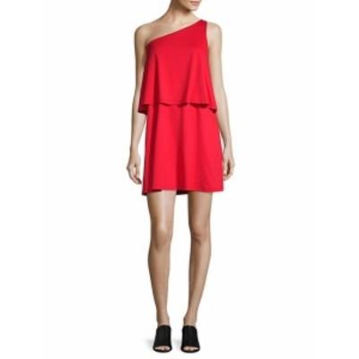スサナモナコ レディース ワンピース One-Shoulder Layered Dress