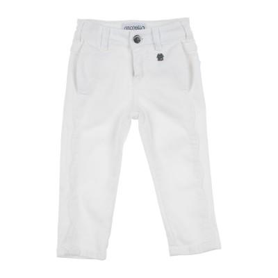 SIMONETTA パンツ ホワイト 5 コットン 65% / エラストマルチエステル 35% パンツ