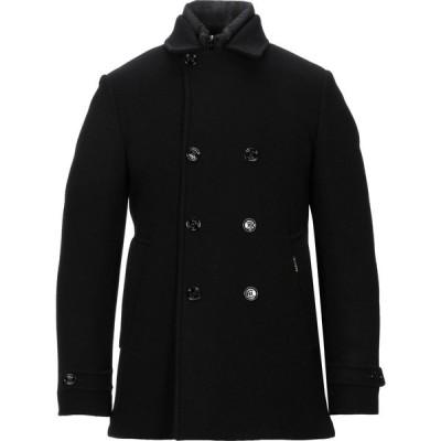 ムーレー MOORER メンズ コート ピーコート アウター double breasted pea coat Black