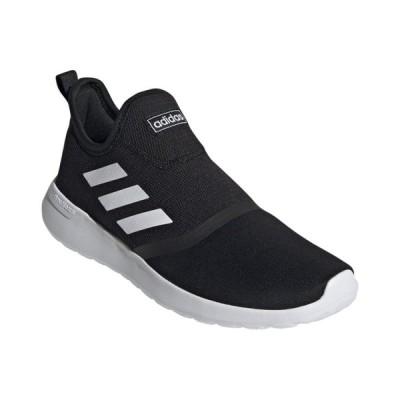 アディダス LITERACERSLIPON FX3781 メンズ スニーカー : ブラック×ホワイト adidas