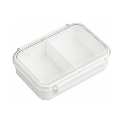 OSK 弁当箱 まるごと 冷凍弁当 ホワイト 650ml タイトボックス (仕切付) (日本製) PCL-3S