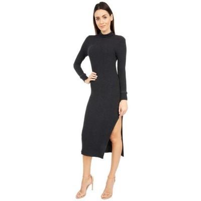エルエーメイド レディース スカート ドレス All in Asymmetrical Turtleneck Rib Dress