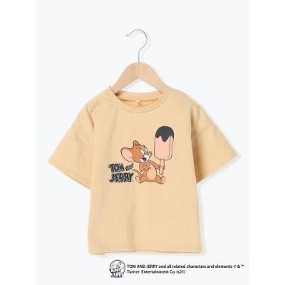 【ラーゴム】【lagom】【トムとジェリー】5分袖Tシャツ