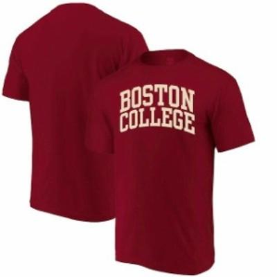 Alta Gracia アルタ グラシア スポーツ用品  Alta Gracia (Fair Trade) Boston College Eagles Maroon Arched Wordmark T-Shirt