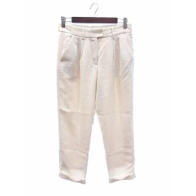 【中古】アダムエロペ Adam et Rope' for AUTHENTIC CLOTHES クロップドパンツ ロールアップ 36 白 ホワイト