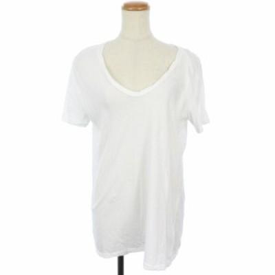 【中古】ドゥーズィエムクラス DEUXIEME CLASSE 18SS Tシャツ カットソー Vネック 半袖 36 白 ホワイト /KS レディース