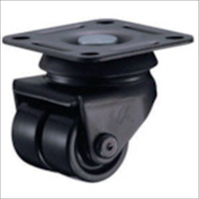 ハンマー 低床中荷重用旋回式ナイロン車輪 38mm(550P-N38BAR01)